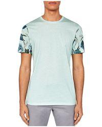 Ted Baker - Men's Bark Ss Floral Sleeve Print T-shirt - Lyst