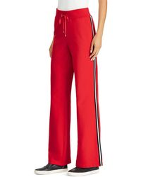 Ralph Lauren - Lauren Racing Stripe Flare Sweatpants - Lyst