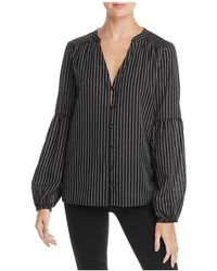 PAIGE - Emilia Striped Bell-sleeve Top - Lyst