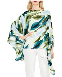 Vince Camuto - Breezy Leaves Poncho Top - Lyst