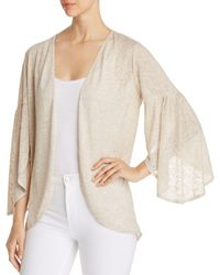 Status By Chenault - Open Bell-sleeve Cardigan - Lyst