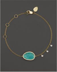 Meira T - 14k Yellow Gold Amazonite Bracelet With Diamonds - Lyst