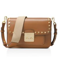 3e24c28dae5a MICHAEL Michael Kors - Sloan Editor Studded Large Leather Shoulder Bag -  Lyst