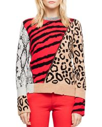Zadig & Voltaire - Delly Animal-print Jumper - Lyst