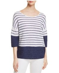 NIC+ZOE - Nic+zoe Crossroads Drop Shoulder Stripe Jumper - Lyst
