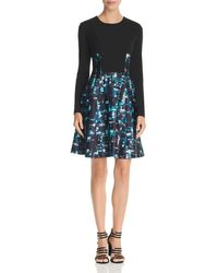 Donna Karan - New York Combo Scuba Dress - Lyst