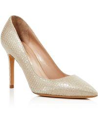 Charles David - Genesis Metallic Snake Embossed Pointed Toe High-heel Court Shoes - Lyst