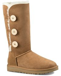 UGG - Bailey Button Triplet Sheepskin Mid Calf Boots - Lyst