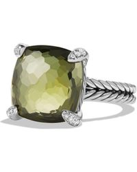 David Yurman - Châtelaine Ring With Green Orchid And Diamonds - Lyst
