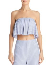 Sage the Label - Wild One Striped Strapless Cropped Top - Lyst