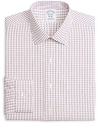 Brooks Brothers - Windowpane Classic Fit Dress Shirt - Lyst