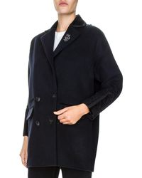 The Kooples - Embroidered Peacoat - Lyst