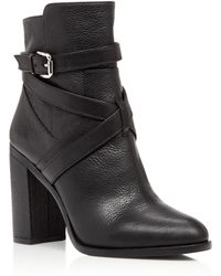 Vince Camuto - Gravell Buckle High Heel Booties - Lyst