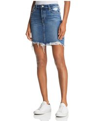 Joe's Jeans - Frayed Denim Skirt In Skyler - Lyst