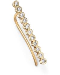 Zoe Chicco - 14k Yellow Gold And Tiny Bezel Diamond Ear Shield - Lyst