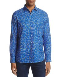 Vilebrequin - Fish Print Long Sleeve Button-down Shirt - Lyst