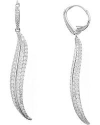 Nadri - Willow Leaf-shaped Drop Earrings - Lyst
