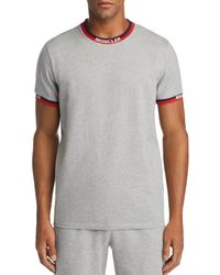 daf892c9db7a Lyst - Moncler Maglia Griccollo Long Sleeve T-shirt in White for Men