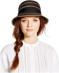 August Accessories - Stripes Abound Cloche - Lyst