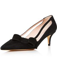 Kate Spade - Women's Mackenzie Suede Bow Mid-heel Court Shoes - Lyst