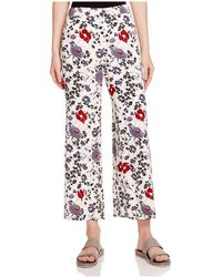 Theory - Raoka Floral Silk Trousers - Lyst