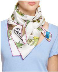 Kinloch - Fruit Print Silk Scarf - Lyst