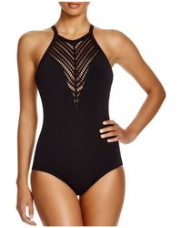 Robin Piccone - Sophia High Neck One Piece Swimsuit - Lyst