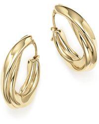 Bloomingdale's - 14k Yellow Gold Twisted Oval Drop Earrings - Lyst