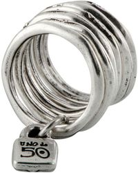 Uno De 50 - Stacked Lock Ring - Lyst