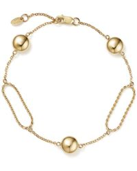 Bloomingdale's - Oval Twist Link Bracelet With Beads In 14k Yellow Gold - Lyst