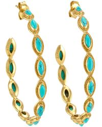 Melinda Maria - Gwyneth Turquoise Hoop Earrings - Lyst
