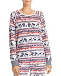 Pj Salvage - Winter Escape Fairisle Thermal Fleece Long-sleeve Top - Lyst