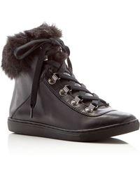 Pour La Victoire - Nyx Faux Fur Trainer - Lyst