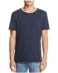 AG Jeans - Jeans Julian Raw Paint Splatter Crewneck Short Sleeve Tee - Lyst