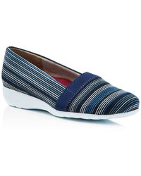 Munro - Bonita Striped Canvas On Flats - Lyst