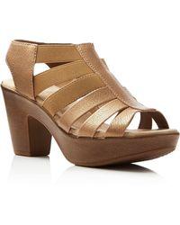 Munro - Cookie Metallic Strappy Sandals - Lyst
