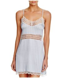 Else - Pinstripe Soft Cup Chemise - Lyst