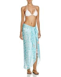 Macbeth Collection - Printed Sarong Swim Cover Up - Lyst