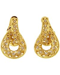 Chimento | 18k White And Yellow Gold Olimpia Doorknocker Earrings With Diamonds | Lyst
