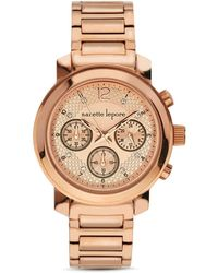 Nanette Lepore | Olivia Chronograph Watch, 39mm | Lyst
