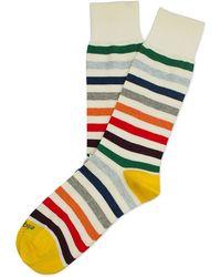 Etiquette - East River Stripe Socks - Lyst