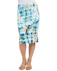 Lyssé - Ruched Abstract Print Skirt - Lyst