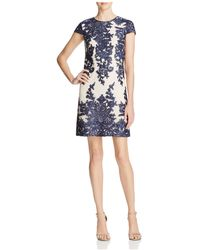 Vera Wang - Contrast Lace Dress - Lyst