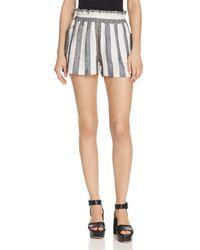 Aqua - Ruffled Striped Shorts - Lyst