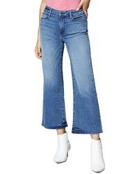 Sanctuary - Non Conformist Wide-leg Cropped Jeans In Chelsea Blue - Lyst