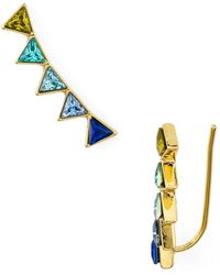Rebecca Minkoff - Triangle Climber Earrings - Lyst