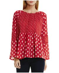 Two By Vince Camuto - Contrast Foulard Print Blouse - Lyst