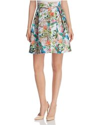 Finity | Floral Print Flared Skirt | Lyst