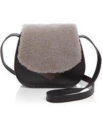 Facine - Mini Lock Shearling Saddle Bag - Lyst