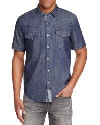 Blank NYC - Denim Regular Fit Snap Front Shirt - Lyst